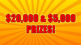 $20,000 & 5,000 Cash Prizes for Record Breaking Bass!